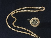 Женская золотая цепочка плюс подарок